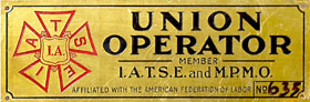 Union Operator Plaque